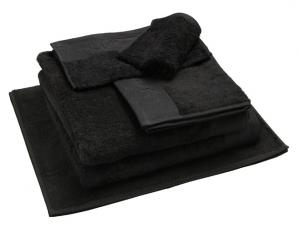 Nord dusjhåndkle egyptisk bomull 50x70 cm sort