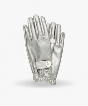 Hage handsker i sølv