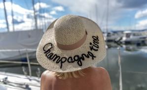 Champagne time stråhatt