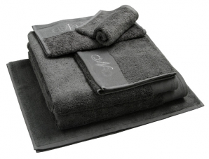 Nord dusjhåndkle egyptisk bomull 50x70 cm mørk grå