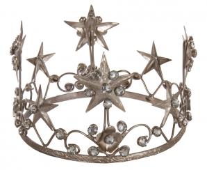 Metal crown antique silver d13 cm