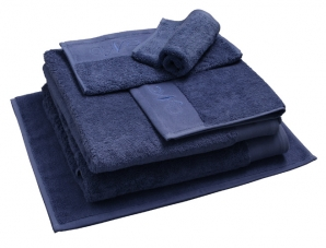 Nord dusjhåndkle egyptisk bomull 50x70 cm medium blå