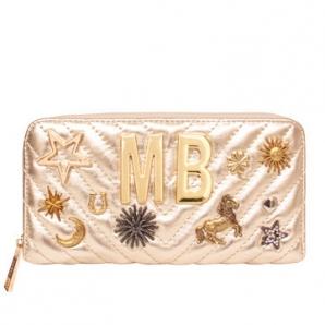 Lommebok i skinn m/dekor