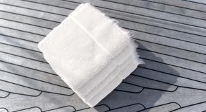 4 stk Nord håndkle hvit 50x70 cm m/frynsekant