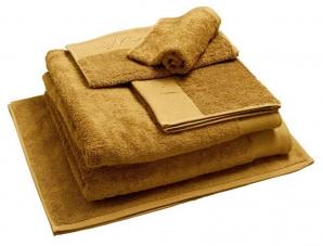 Nord dusjhåndkle egyptisk bomull 70x140 cm ravgul