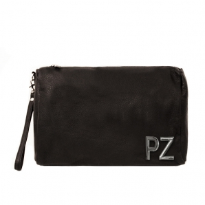 Toilet Bag in genuine leather with customized initials