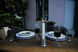 Kattvik Design lysestake i børstet rustfritt stål